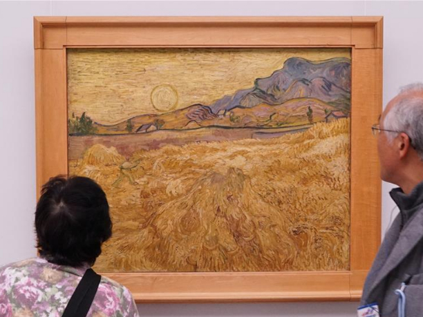 Visitors view paintings of Vincent van Gogh in Otterlo, the Netherlands