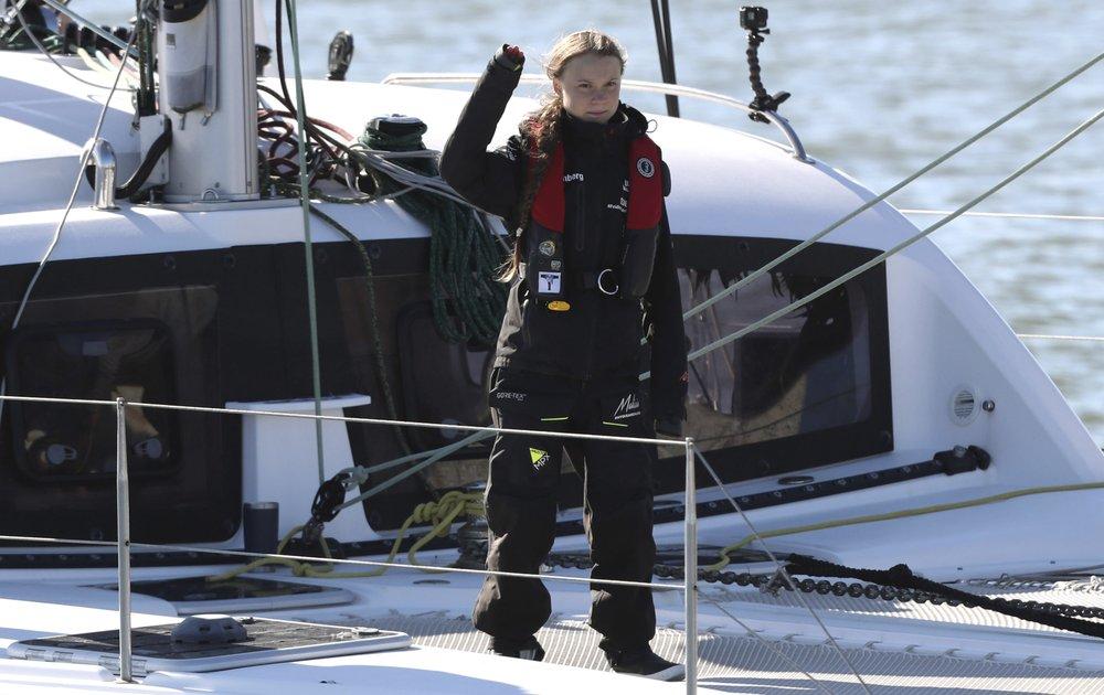 Greta Thunberg says voyage 'energized' her climate fight