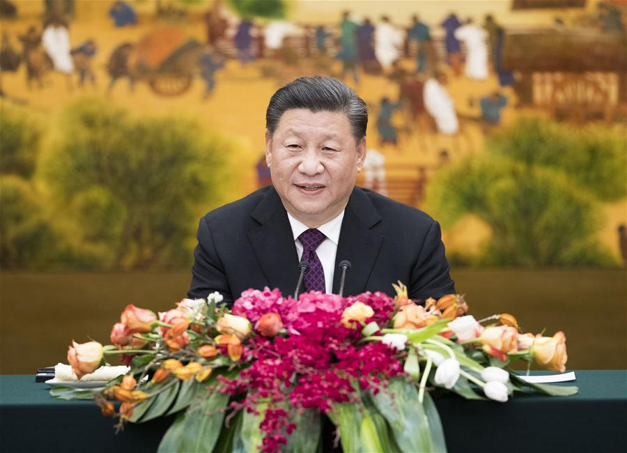 Xi meets guests to Imperial Springs Int'l Forum, calls for upholding multilateralism