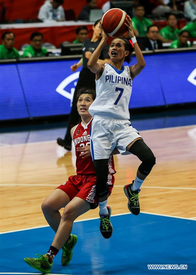 Women's basketball preliminary match at Southeast Asian Games: Philippines vs. Indonesia