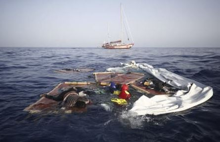 UN agency says at least 57 migrants dead after boat capsizes
