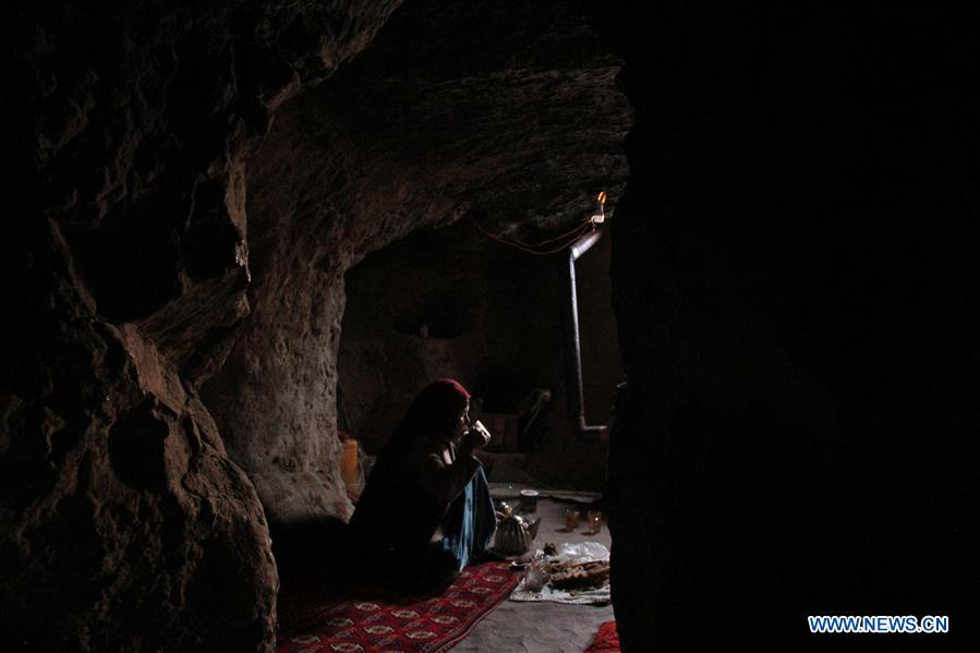 Hundreds of families reside in caves in Bamyan province, Afghanistan