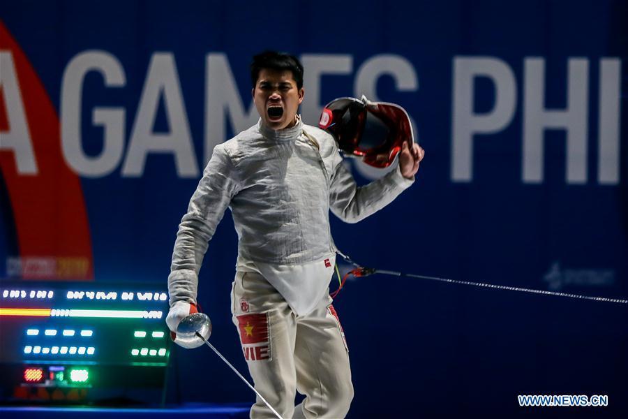 Southeast Asian Games men's team sabre fencing final: Vietnam vs. Thailand