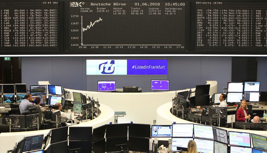 German shares with slight gains at the start of trading on Friday