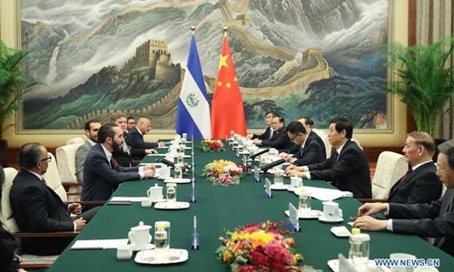 Top Chinese legislator meets El Salvador's president