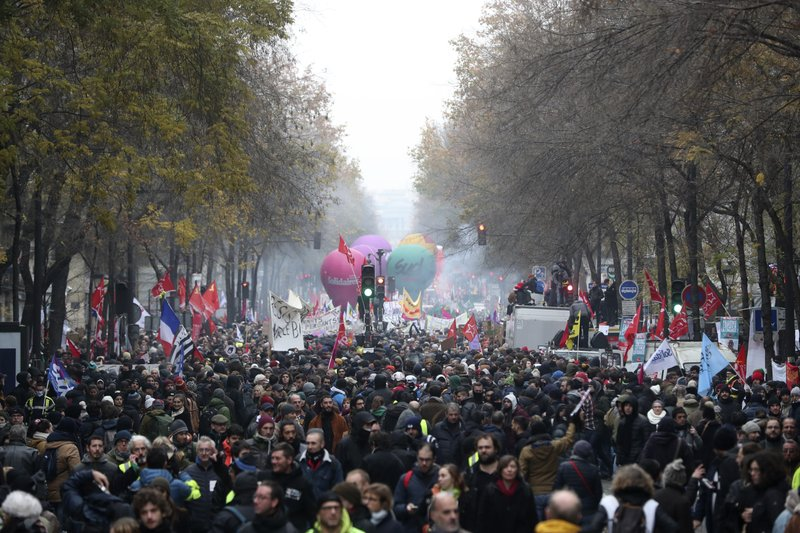 A look at France's heated debate over pensions