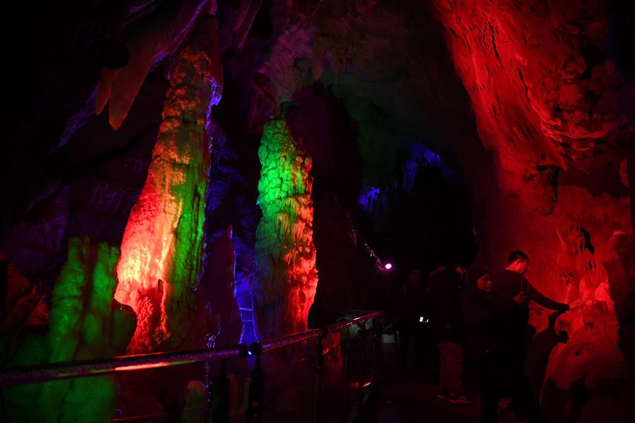 Karst cave at Jizhou District of north China's Tianjin