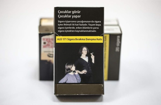 Turkey uses plain packages to discourage smokers