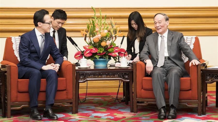 Wang Qishan calls for long-term perspective in handling China-Japan ties