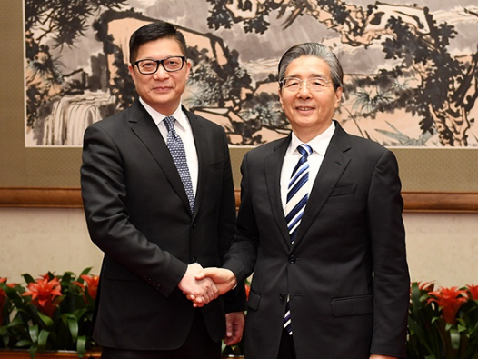 Senior CPC official meets Hong Kong police commissioner