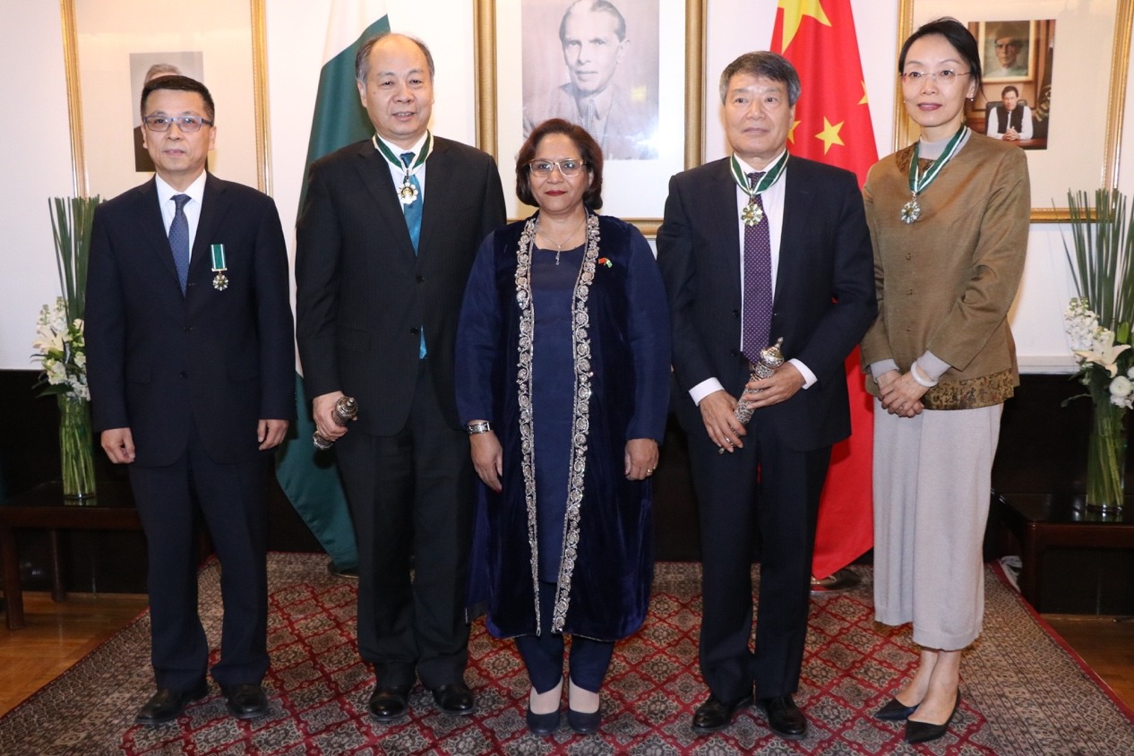 Four Chinese granted Pakistan Civil Awards for immense contribution