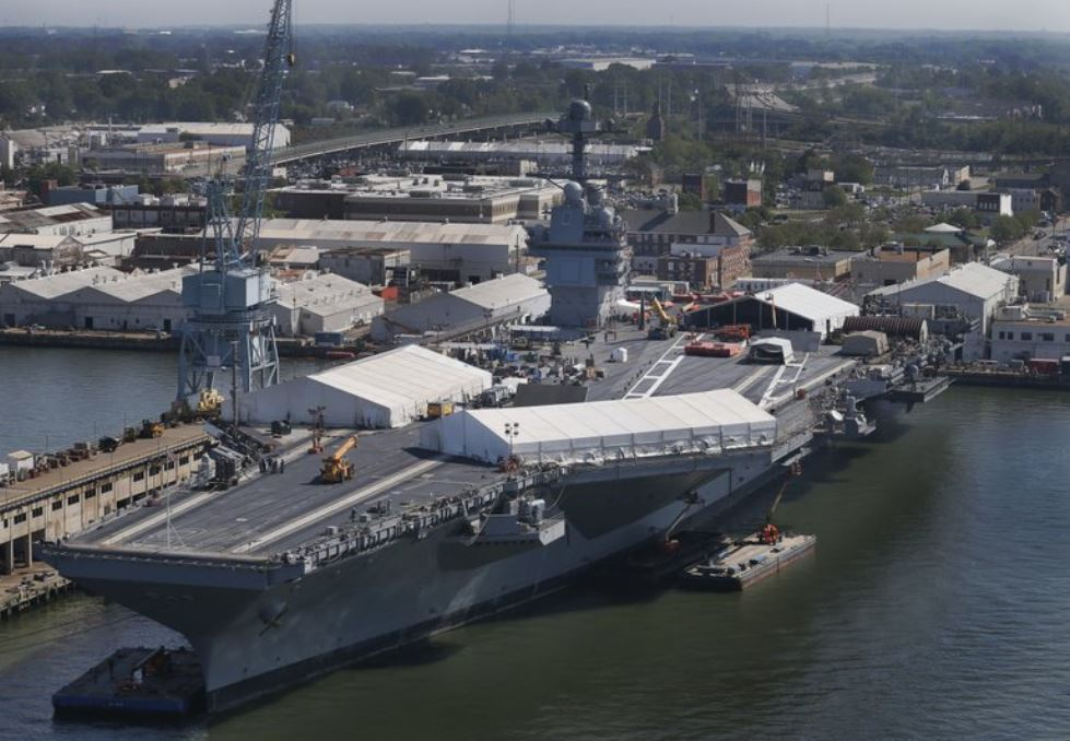 US Navy's second Ford-class aircraft carrier christened