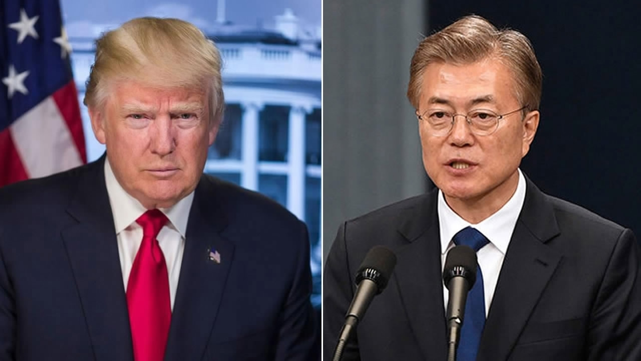 Trump, Moon discuss Korean Peninsula in phone call