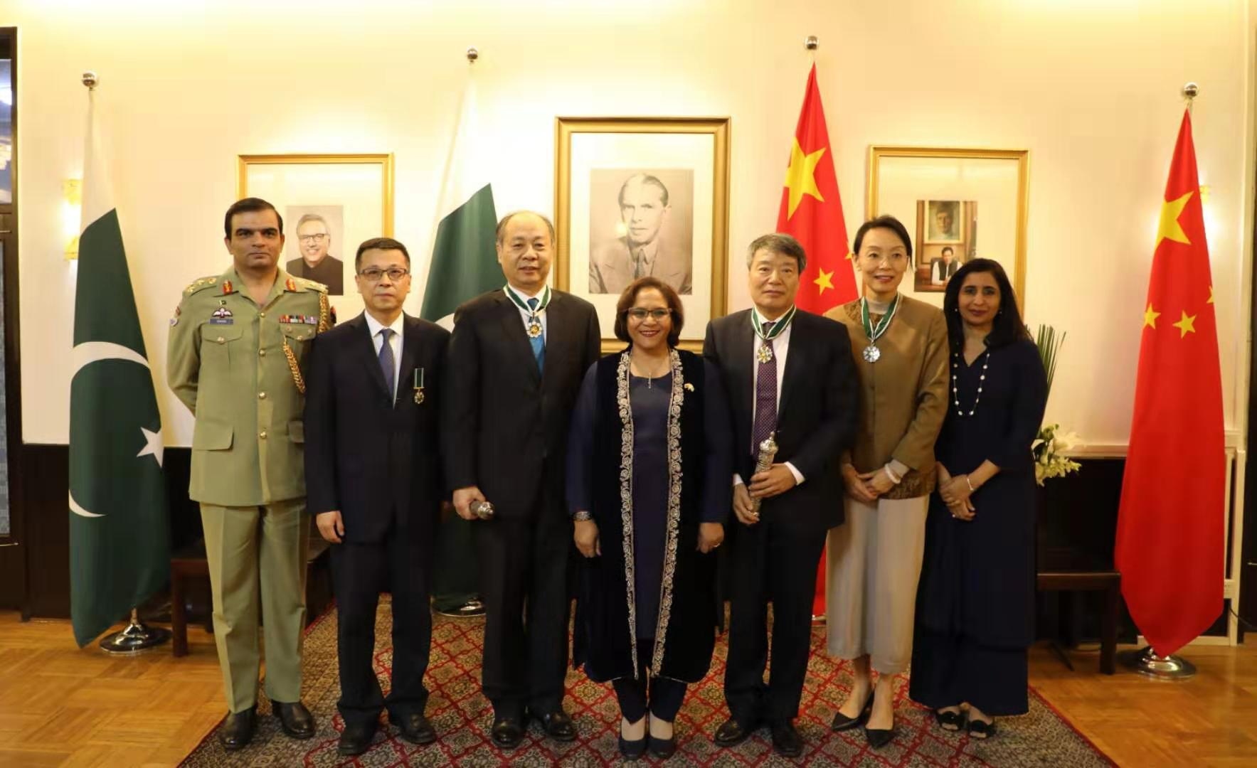 Pakistan confers civil awards on 4 Chinese nationals