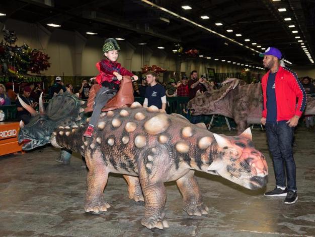 Dinosaur exhibition Jurassic Quest held in Dallas