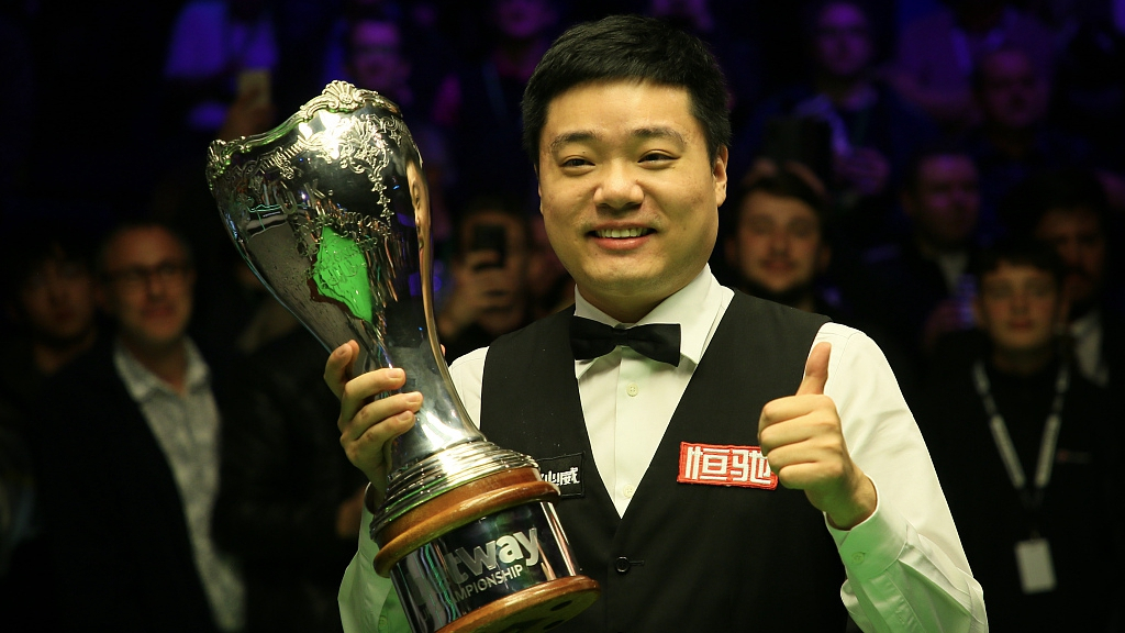 China's Ding Junhui wins snooker UK Championship