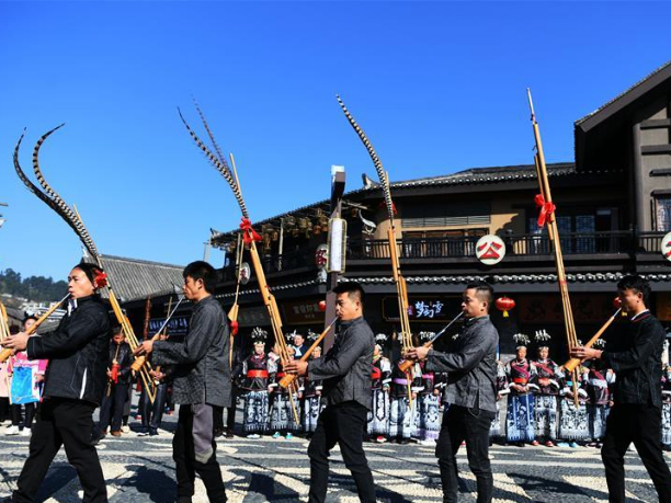 Miao people celebrate Jiyou Festival in SW China's Guizhou