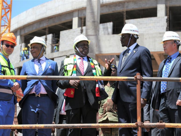 Zimbabwean president impressed by progress on Chinese-funded new parliament building