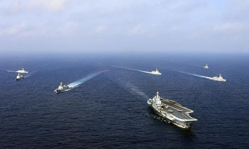 Chinese navy trains fighter pilots into aircraft carrier commanders