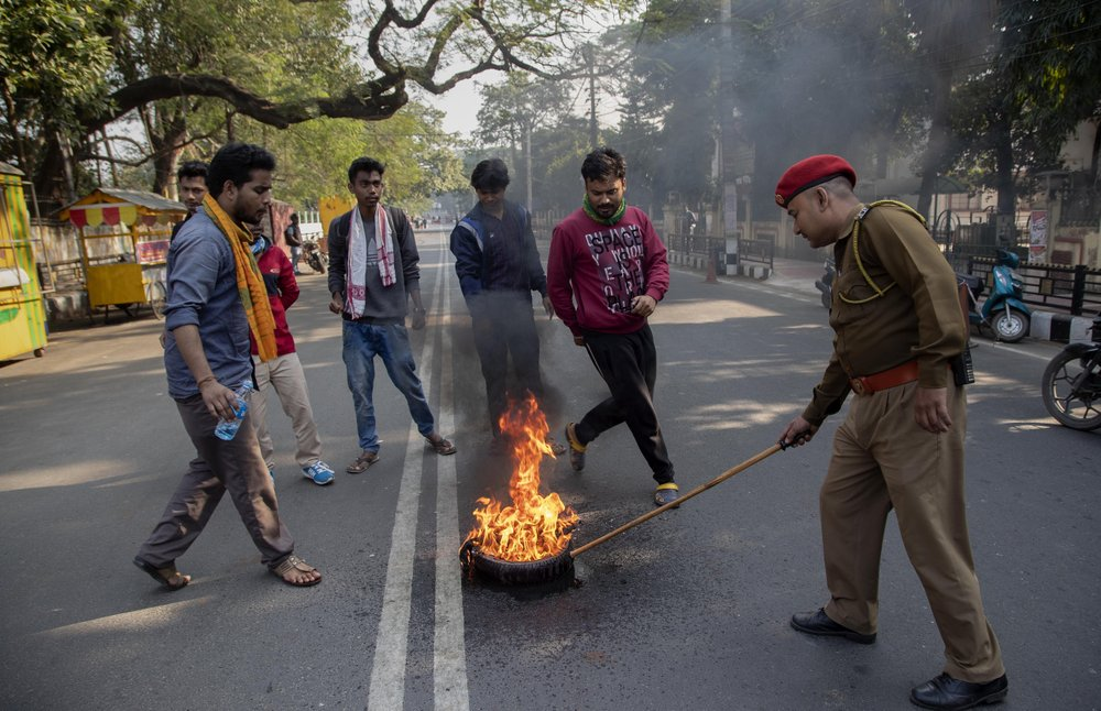 Indian protesters stage shutdown against citizenship bill