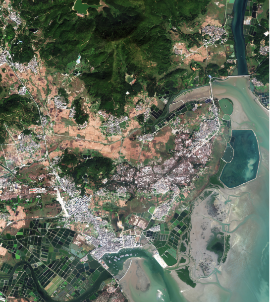 First images released from China's Gaofen-7 3D high-res satellite