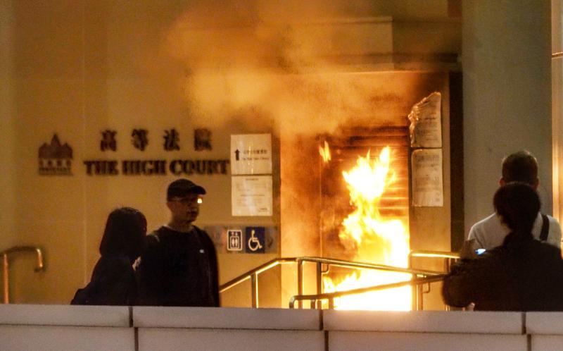 Firebombings a 'menace' to HK judiciary