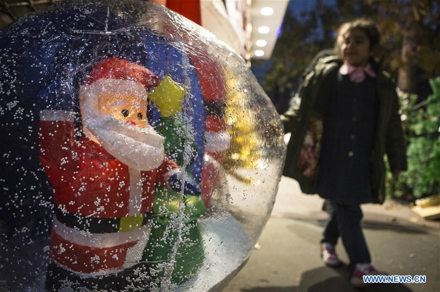 People visit Christmas stores in Tehran, Iran