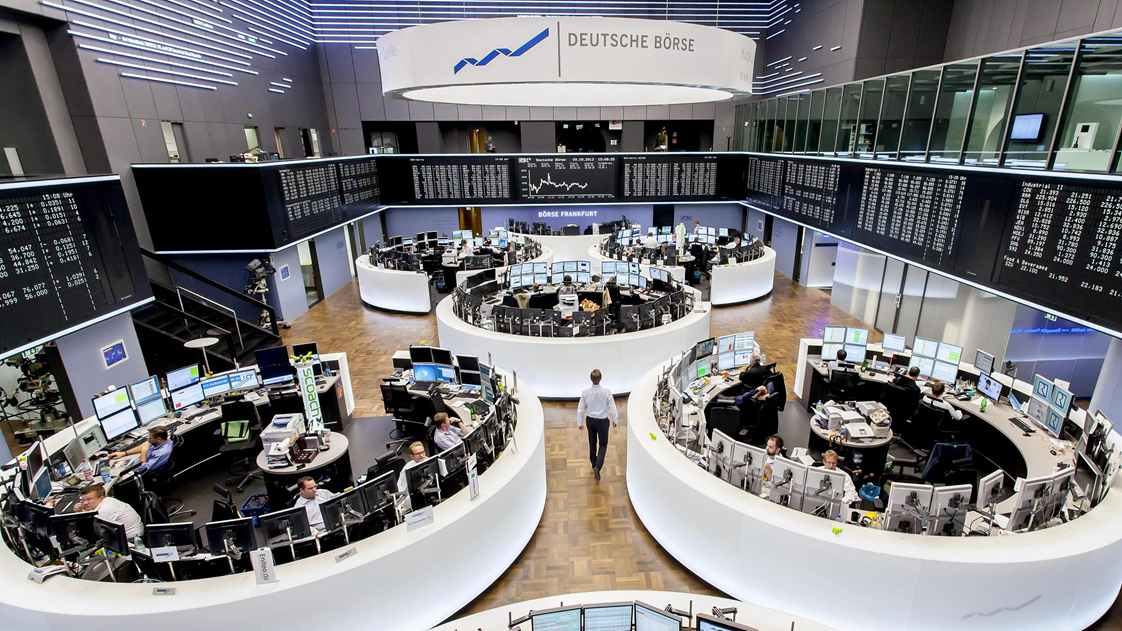 German shares up at start of trading on Thursday