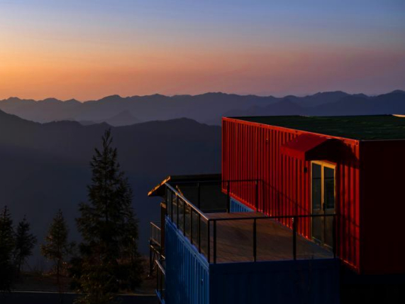 Container hotels on mountaintop in Hubei