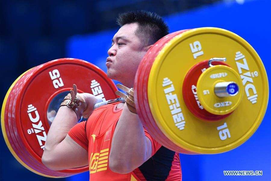 In pics: men's 109kg match at 2019 IWF World Cup