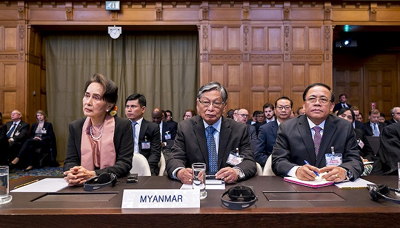 Aung San Suu Kyi hears case against Myanmar on genocide charge at The Hague