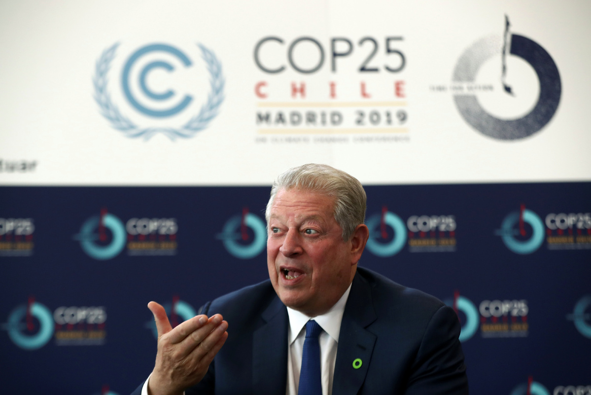 Gore hails China's fight against climate change at Madrid conference