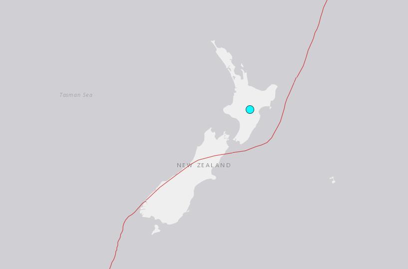5.1-magnitude quake hits 38km SSE of Turangi, New Zealand -- USGS