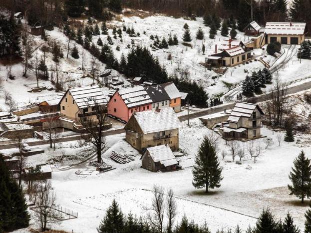 Snowy scenery of Croatia