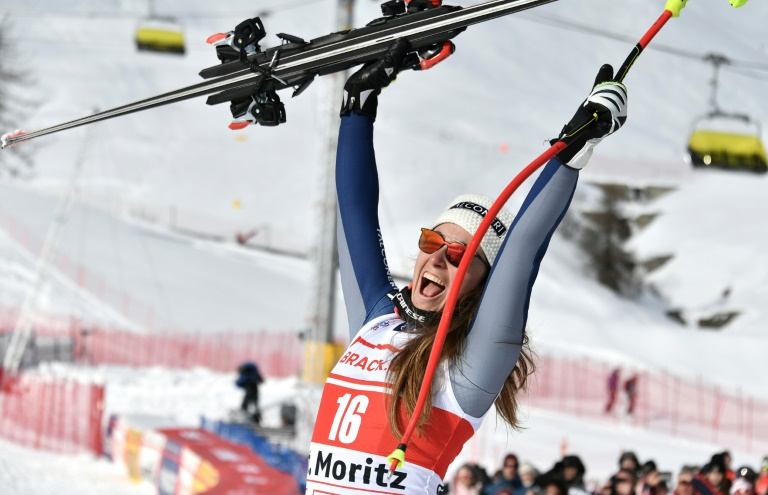Goggia leads Italian 1-2 in St Moritz super-G, Shiffrin third