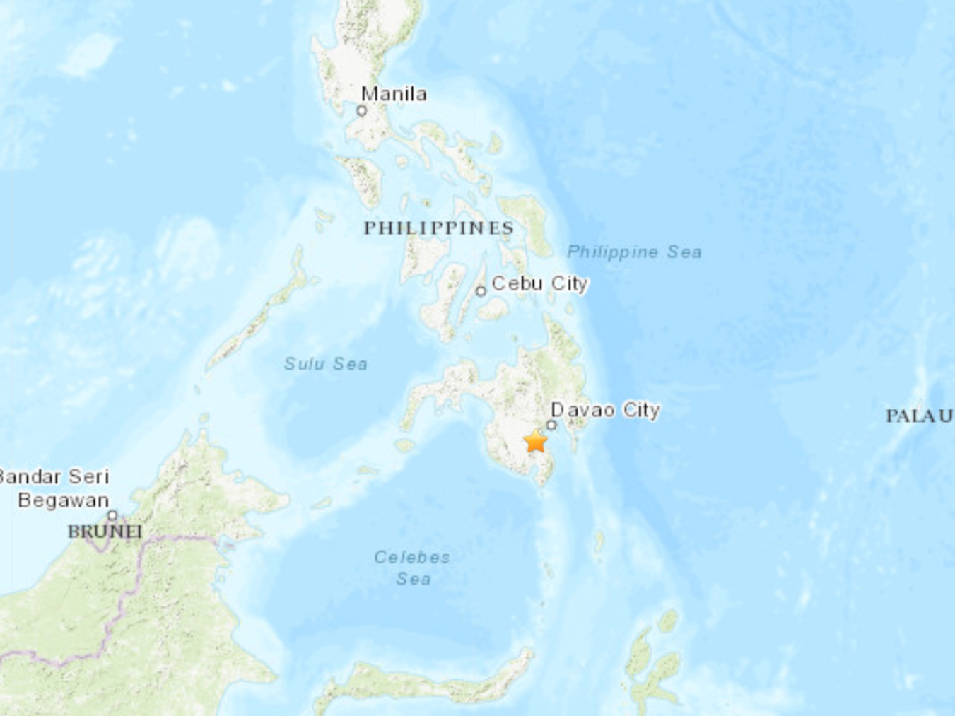 Southern Philippines hit by 6.8-magnitude quake