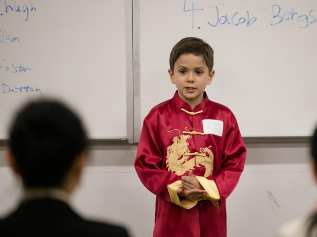 Chinese recital competition held in Dallas, US