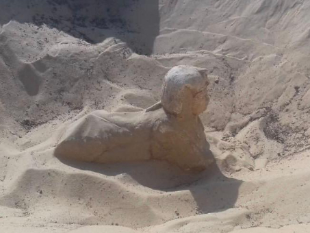 Royal Sphinx statue discovered in Egypt's Minya