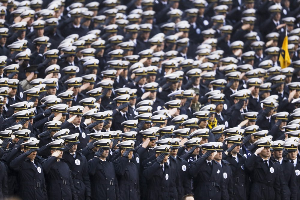 US Naval Academy probes possible 'white power' gesture at game