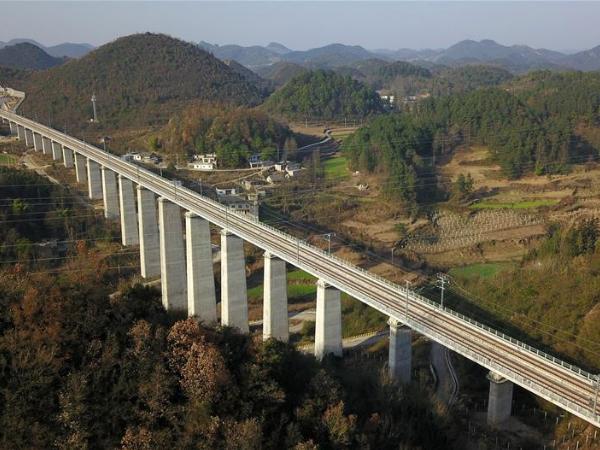 Chengdu-Guiyang railway in operation