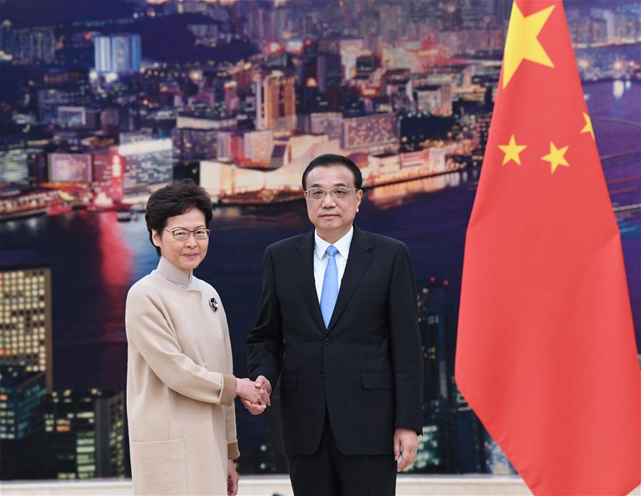 Premier Li meets with HKSAR chief executive