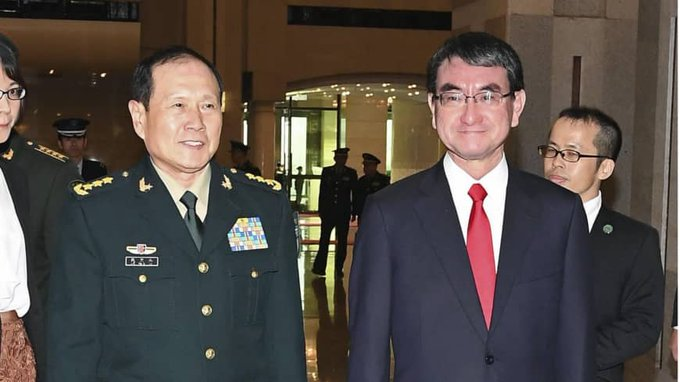 Senior military officials meet with Japanese defense minister