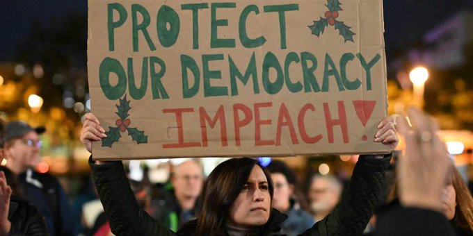 Thousands demonstrate in San Francisco in call for Trump's impeachment