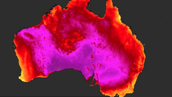 Australia has its hottest day on record