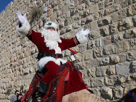 "In pics: ""Jerusalem Santa"" in Old City"