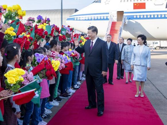 President Xi visits China-PSCs commercial, trade service platform complex