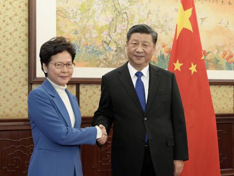 Xi meets with HKSAR chief executive