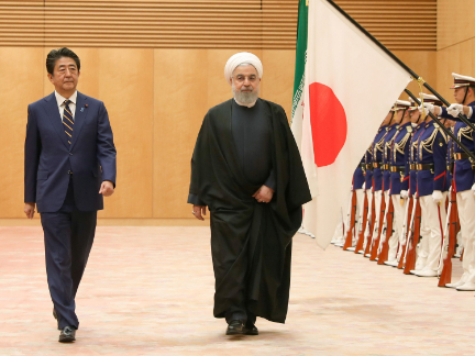 Iranian president asks Japan's Abe to stick to nuclear deal