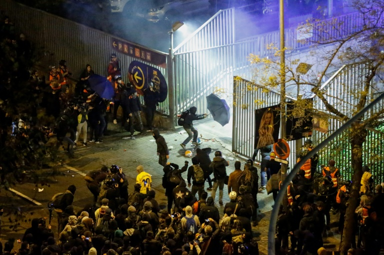 10 arrested in clashes outside Spain's Camp Nou stadium during Clasico