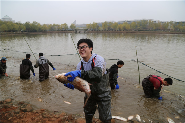 University in central China kicks off annual fish feast
